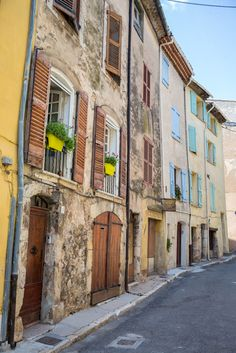 Colorful homes in Provence