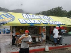 """Trinidad; Maracas Beach, the famous """"Richard's Bake & Shark.  There are other stands nearby selling the same sandwich, but Richard's tops them all."""