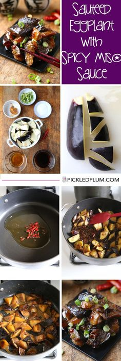 Sauteed Eggplant with Spicy Miso Sauce - Healthy and only 20 minutes to make. http://www.pickledplum.com/sauteed-eggplant-recipe/