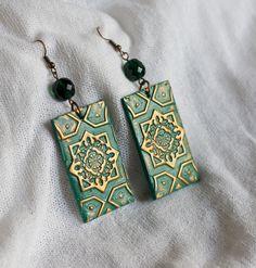 Oriental Green earrings