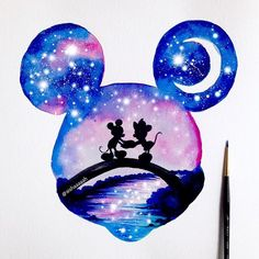 #Disney #MickeyMouse double exposure✨ I'm thinking of my next one .....I added this in my shop, & the site is supposed to work now ..Have a good day all