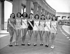 Beauty Pageant 1945 No Thigh Gap Miss New York City