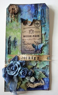 Faded stamped details Astrid's Artistic Efforts: Tag a Day project Card Tags, Gift Tags, Handmade Tags, Art Journal Pages, Art Journals, Junk Journal, Paper Tags, Artist Trading Cards, Vintage Tags