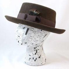 Chocolate Brown Porkpie for Men and Women by MoeSewCoMillinery, $150.00