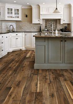 Pacific Northwest Wood-Laid Kitchen
