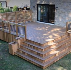 Patio Deck Design, Pictures, Remodel, Decor and Ideas. During your home renovations, don't forget about your outdoor living space too! Enhance your porch and backyard design without spending much money with these DIY tricks. Outdoor Rooms, Outdoor Living, Cozy Backyard, Backyard Chickens, Backyard Patio Designs, Patio Ideas, Deck Landscaping, Simple Deck Ideas, Back Deck Ideas