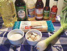 Cast of Ingredients for Pressure Cooker Simple Sesame Noodles