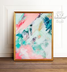 Abstract wall art, PRINTABLE art, Abstract printable, Abstract art, Colorful art, Modern painting, Abstract painting, Brushstroke art by TheCrownPrints on Etsy https://www.etsy.com/uk/listing/474825358/abstract-wall-art-printable-art-abstract