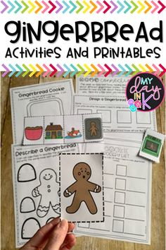 Gingerbread Activities and Printables Kindergarten Christmas, Christmas Activities, Winter Activities, Kindergarten Activities, Writing Activities, Math Resources, Kwanzaa, Hanukkah, All Things Christmas