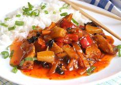 Sladko pálivé kuře s ananasem Kung Pao Chicken, Thai Red Curry, Food And Drink, Treats, Cooking, Ethnic Recipes, Health, Scotch Whiskey, Irish Whiskey