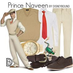 Prince Naveen by leslieakay on Polyvore featuring Rollie, Michael Kors, Kim Rogers, Steve Madden, Canali, Ralph Lauren, disney, menswear, disneybound and disneycharacter
