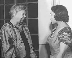 Eleanor and Marian, On February 26, 1939, Eleanor Roosevelt resigned from the Daughters of the American Revolution in support of African American opera singer Marian Anderson.
