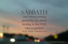 What Sabbath is Not - Redemptions Beauty