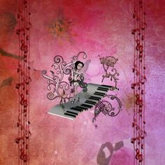 Loving this pic Cute fairy dancing on a piano, red vinatge background by Heike Köhnen (nicky2342) via @mipic_app