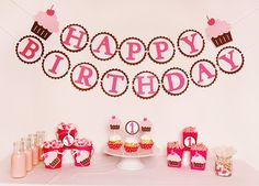 Cute as a Cupcake Party by Pinwheel Lane on etsy #cupcake #party