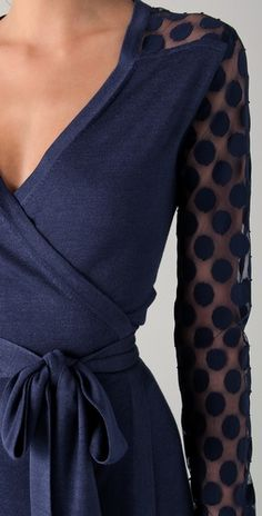 Diane von Furstenberg Linda Lace Polka Dot Wrap Dress