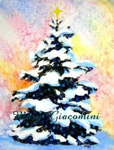 Easy Canvas christmas Painting Ideas | mixed media (watercolor & acrylic) painting turned into my Christmas ...