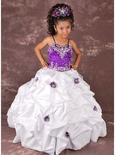 This was my daughters favourite flowergirl dress. It reminds me of a toddlers and tiaras sort of dress it's very fancy