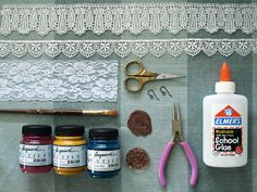 DIY Lace Jewelry - via Glamour and Grace