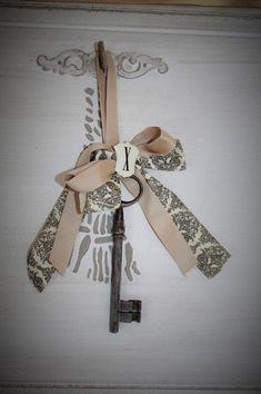 15x antique vintage pendentif cœur nœud Serrure Steampunk Old Look Squelette Jeu de clés