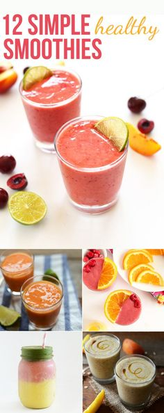 12 Simple Healthy Smoothie ideas so you NEVER run out of smoothie ideas again!
