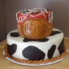 i don't always make cowboy cake....but when i do it has my husbands name on the buckle:D