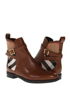 BURBERRY Richardson Ankle Boot, Chestnut