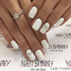 12 – You may like nail designs – 5 We offer nail designs in different colors for These nail models will suit you very well. How about applying one of the latest nail designs? Manicure Nail Designs, Manicure And Pedicure, Bride Nails, Wedding Nails, Latest Nail Designs, Bridal Nail Art, Chic Nails, Crystal Nails, Nail Accessories