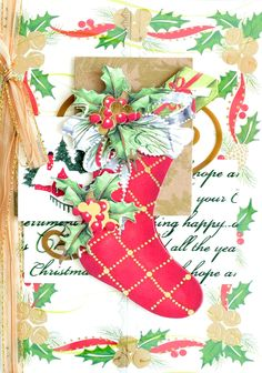 As you know, Anna Griffin Christmas Pops, Christmas Tag, Christmas Themes, Christmas Stockings, Christmas Crafts, Christmas Decoupage, Christmas Wreaths, Christmas Cards To Make, Xmas Cards