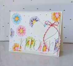 Simon Says Stamp Dies and Stamps Mother's Day Flower Card