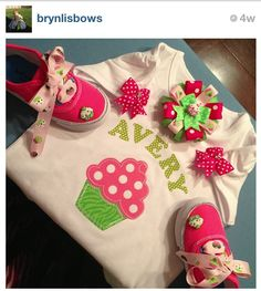 Cupcake set made by Brynlis Bows