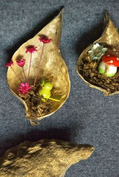 Milkweed pod ornaments, with a story
