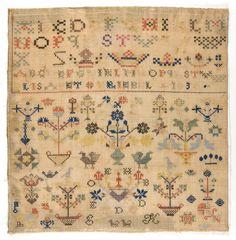 Philadelphia Museum of Art - Collections Object : Sampler -- Elizabeth Kriebel 1830 Schwenkfelder