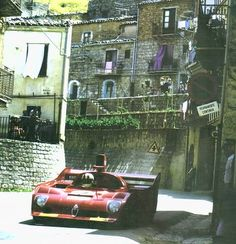 Targa Florio 1975 . Nino Vaccarella and Arturo Merzario - Winners - Alfa Romeo 33TT3