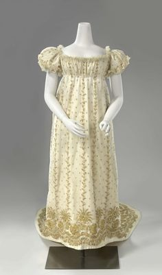 Court dress ca. 1806-10  From the Rijksmuseum