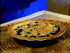 Polly's Perfect Blueberry Pie from FoodNetwork.com just made this. Amazing!