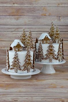 Gingerbread Forest House Christmas Cake from Blossom Tree Cake Co Harrogate North . - Gingerbread Forest House Christmas Cake from Blossom Tree Cake Co Harrogate North … - Christmas Cake Decorations, Christmas Sweets, Holiday Cakes, Noel Christmas, Christmas Goodies, Christmas Cakes, Tree Decorations, Xmas Cakes, Christmas Cake Designs