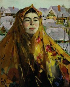 BABA IN WINTER Filipp Andreevich Malyavin (1869~1940) | Impressionism, Expressionism, Art Nouveau