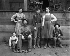 Central Valley California farm family c. 1900...