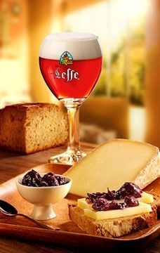 Red fruits beer pairings - ham, goats cheese