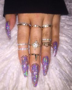 """1,152 Likes, 12 Comments - Victoria (@victoriaoliviaxo) on Instagram: """" Throwback to last weeks sparkly/blinding Très She press on nails ✨ @tres_she press on nails…"""""""