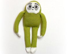Grimbly Gunk Sloth - 12 1/2 to 14 inch tall - Crocheted Amigurumi Doll - Eugene's Doll The Walking Dead