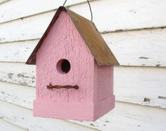 Rustic yellow birdhouse for your cottage beach home and garden, with its simple and sweet look, adorable inside your french country home or