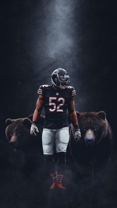 Instagram Football Images, Football Design, Football Pictures, Chicago Bears Pictures, Nfl Chicago Bears, Chicago Chicago, Chicago Skyline, Nfl Football Players, Bears Football