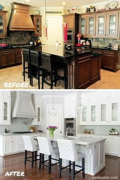Before and After Kitchen Remodel - Designer: Carla Aston