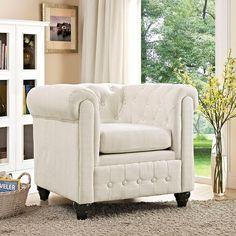 - Earl Fabric Armchair in Beige