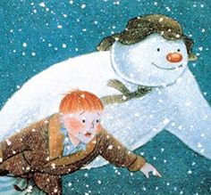 Raymond Briggs- The Snowman illustration - kidlit, children's books The Best Of Christmas, Christmas Art, English Christmas, White Christmas, Raymond Briggs, Animated Icons, I Love Snow, Christmas Concert, Frosty The Snowmen