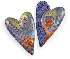 This new batch of Picarello/Lehocky hearts was too beautiful to pass by. Julie Picarello tidied her studio and forwarded those pesky tail ends and bothersome bits to Ron Lehocky. Ron never met a polymer scrap he couldn't use. Look at the lovely [...]