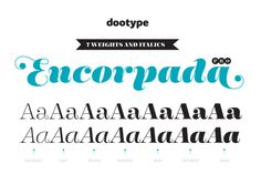 With seven weights and a lot of curves. Freely inspired by the didones shapes, Encorpada Pro now have a extended character set with more than 40 languages supported, Opentype Features and Amazing Swashes in Italic Version. Enjoy It.