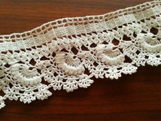 Vintage Lace Edge Crocheted Cotton Trim  by CuteTraditonalThings, $37.50